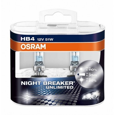Par Lampadas Osram Night Breaker HB4